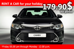 TOYOTA CAMRY (WEEKEND RATE)